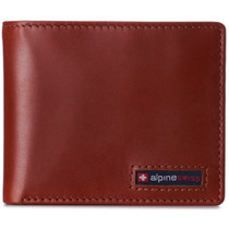 Alpine Swiss Mens RFID Blocking Cowhide Leather Wallet Bifold 2 ID Windows Divided Bill Section Comes in Gift Box