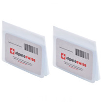 Alpine Swiss SET OF 2 Clear Plastic Wallet Inserts 12 Pages Picture Card Holder