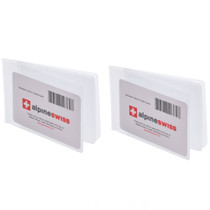 Alpine Swiss Set of 2 Wallet Inserts 6 Pages Credit Card Holder Picture Windows
