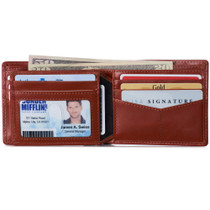 Alpine Swiss Nolan Mens RFID Protected Bifold Wallet Genuine Leather Comes in a Gift Box