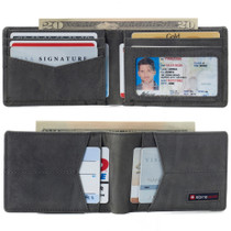 Alpine Swiss Delaney Men's RFID Blocking Slimfold Wallet Thin Bifold Cowhide Leather Comes in Gift Box