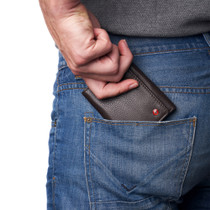 Alpine Swiss Mens Leon Trifold Wallet RFID Safe Genuine Leather Comes in a Gift Box