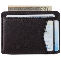 Alpine Swiss RFID Minimalist Oliver Front Pocket Wallet For Men Leather Comes in a Gift Box