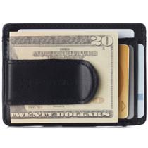 Alpine Swiss Dermot Mens RFID Safe Money Clip Minimalist Wallet Smooth Leather Comes in Gift Box
