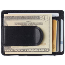 Alpine Swiss Dermot Mens RFID Safe Money Clip Minimalist Wallet Smooth Leather Comes in Gift Box