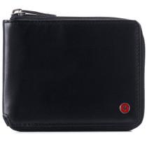 Alpine Swiss Logan Mens RFID Safe Zipper Wallet Leather Zip Around Bifold Comes in Gift Box