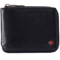 Alpine Swiss Logan Zipper Bifold Wallet For Men or Women RFID Safe Comes in a Gift Box