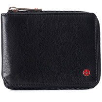 Alpine Swiss Logan Zipper Bifold Wallet For Men or Women RFID Safe Comes in a Gift Box
