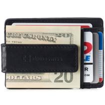 Alpine Swiss Harper Mens RFID Slim Money Clip Front Pocket Wallet Minimalist Leather ID Card Holder