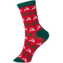 Holiday Cotton Socks 3 Pack Christmas Gift Bow Wrapped Rudolf Raindeer Snowflake