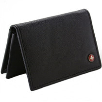 Alpine Swiss Genuine Leather Thin Business Card Case Minimalist Wallet