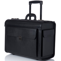 "Alpine Swiss 17"" Laptop Rolling Briefcase Wheels Attache Lawyers Case"