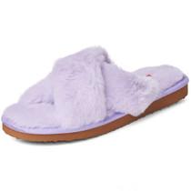 Alpine Swiss Fiona Womens Fuzzy Fluffy Faux Fur Slippers Memory Foam Indoor House Shoes