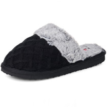 Alpine Swiss Grace Womens Cable Knit Memory Foam Scuff Slippers