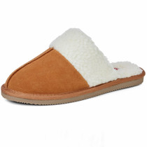 Alpine Swiss Lucy Womens Genuine Suede Memory Foam Scuff Slippers