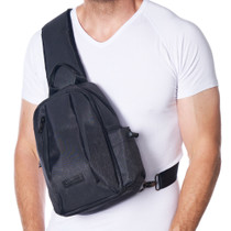 Alpine Swiss Sling Bag Crossbody Backpack Chest Pack Casual Day Bag Shoulder Bag + Sono Travel Safety Cleaning & Disinfectant Kit