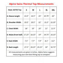 Alpine Swiss Mens Thermal Long Sleeve Top Underwear Crew Neck Shirt Waffle Knit Henley Base Layer