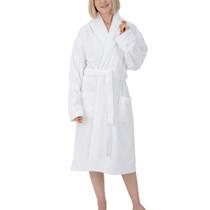 Alpine Swiss Elyse Womens Luxury Waffle Knit Cotton Bathrobe Shawl Collar Hotel Spa Robe