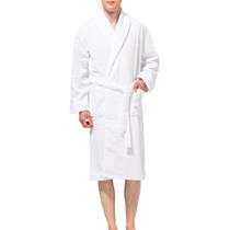 Alpine Swiss Dario Mens Luxury Waffle Knit Cotton Bathrobe Shawl Collar Hotel Spa Robe