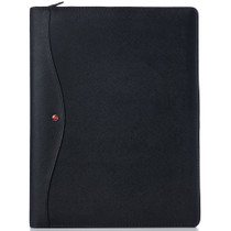 Alpine Swiss Leather Writing Pad Portfolio With Tablet Sleeve Business Case Left & Right Handed Use
