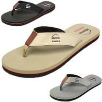 Alpine Swiss Mens Flip Flops Beach Sandals Lightweight EVA Sole Comfort Thongs