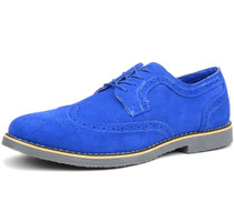 Alpine Swiss Beau Mens Dress Shoes Genuine Suede Wingtip Brogue Lace Up Oxfords