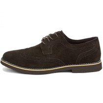 Alpine Swiss Beau Mens Dress Shoes Genuine Suede Wingtip Brogue Lace Up Oxfords