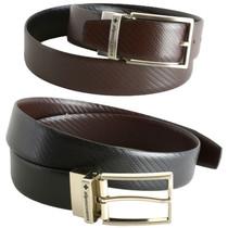 Alpine Swiss Mens Belt Reversible Black Brown Leather Dress Belt Imported from Spain