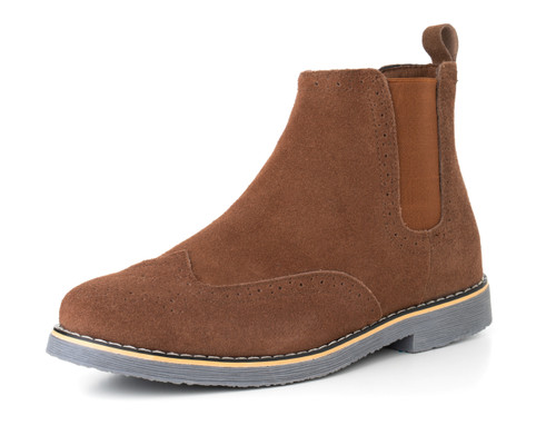 kid hot-selling fashion best price Alpine Swiss Mens Chelsea Boots Genuine Suede Dress Ankle Boots Wingtip  Shoes