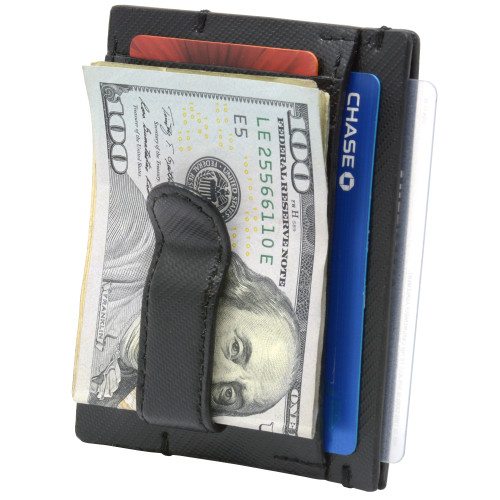 Alpine Swiss Double Diamond Mens RFID Money Clip Front Pocket Wallet