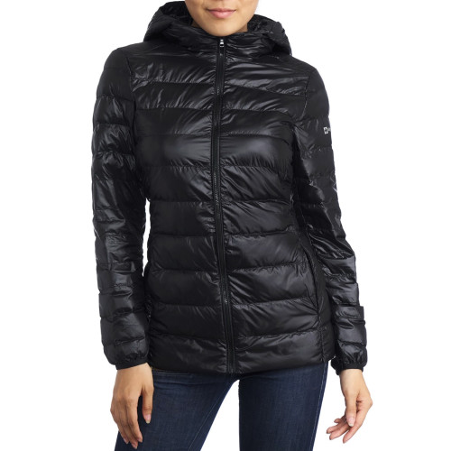 Alpine Swiss Eva Womens Down Alternative Puffer Jacket Hooded Light Packable Coat