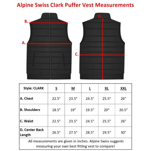 8ccc97be225 Alpine Swiss Clark Mens Lightweight Down Alternative Vest Jacket