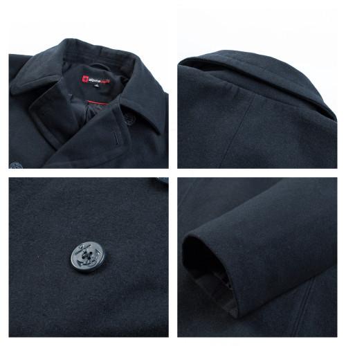 Alpine Swiss Mason Mens Wool Blend Classic Pea Coat