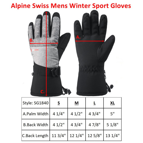 Touchscreen 3m Thinsulate Bike Gloves Driving Gloves for Man /& Women Winter Gloves Waterproof Ski Gloves