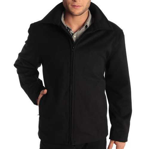 """Alpine Swiss Grant Mens Wool 28"""" JD Zip Open Front Jacket"""