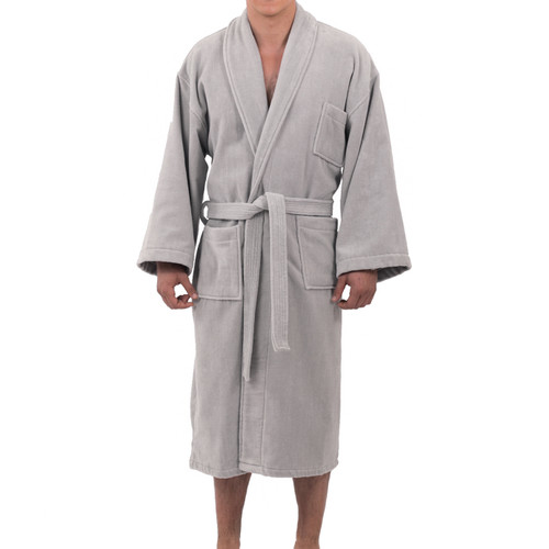 Womens 100/% Cotton Shawl Collar Robe Terry Cloth Bathrobe Available in Plus Size