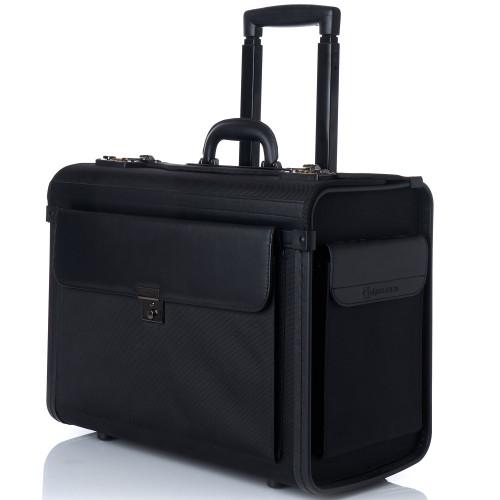 "Alpine Swiss Rolling 17"" Laptop Briefcase on Wheels Attache Lawyers Case Legal Size"