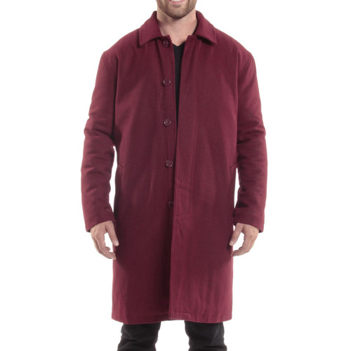 Alpine Swiss Zach Mens Overcoat Wool Trench Coat Knee Length RUNS LARGE Meant to be worn over suits and coats