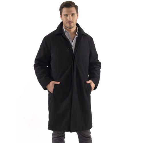 Alpine Swiss Zach Mens Wool Trench Coat Knee Length Overcoat