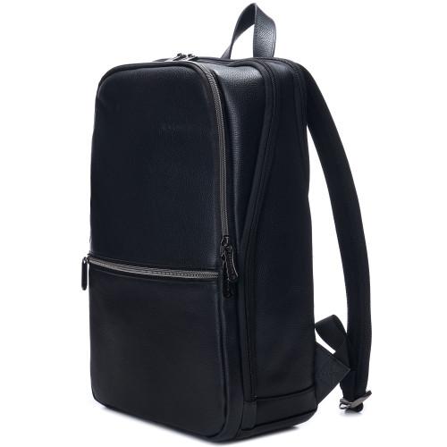 "Alpine Swiss Men's Sloan Slim 14.1"" Laptop Backpack Top Grain Leather"