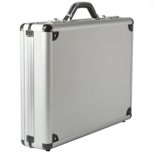 Alpine Swiss Aluminum Attache Case Padded Laptop Briefcase Combo Lock Hard Sided
