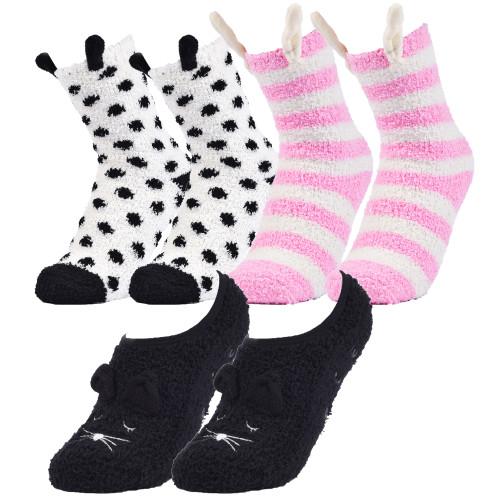 Alpine Swiss Womens Fuzzy Socks Warm Fluffy Slipper Socks with Gift Bow