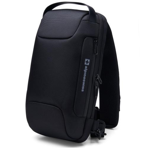 Alpine Swiss Lightweight Sling Bag Crossbody Backpack Chest Day Bag Shoulder Bag + Sono Travel Safety Cleaning & Disinfectant Kit