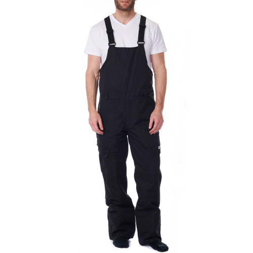 Snow Pants Back Strap Pants Mens Snow Pants-Essential Insulated Bib Overalls