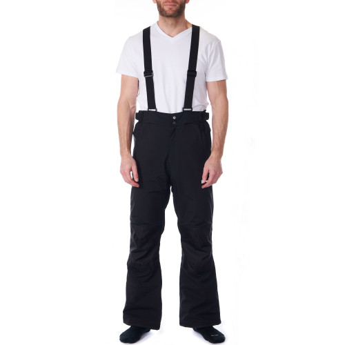 Alpine Swiss Mens Waterproof Snow Pants with Removable Suspenders Insulated Winter Snowboarding Ski Pants