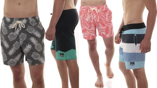 Alpine Swiss Mens Boardshorts Swim Trunks Hybrid Short With Pockets