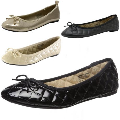 Alpine Swiss Womens Patent Leather Aster Slip On Ballet Flats