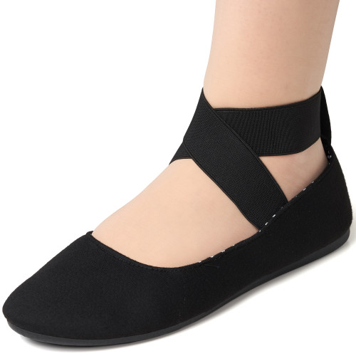 96946a1eb Alpine Swiss Peony Womens Ballet Flats Elastic Ankle Strap Shoes NARROW FIT