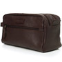 Alpine Swiss Sedona Toiletry Bag Genuine Leather Shaving Kit Dopp Kit Travel Case