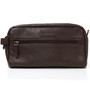 Alpine Swiss Sedona Toiletry Bag Leather Shaving Kit Dopp Kit Travel Case